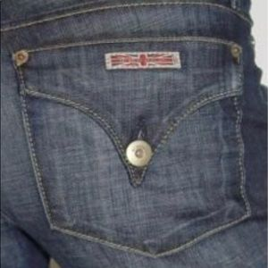 Brand New HUDSON Tailor fit TRIANGLE POCKET JEANS!
